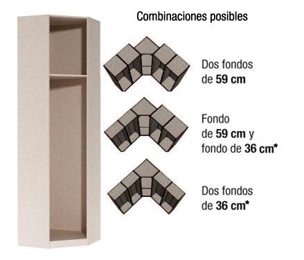 Casa en constructor armario 40 cm ancho puertas - Armarios empotrados en esquina ...