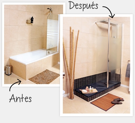 Hacemos tu proyecto leroy merlin - Como cambiar banera por ducha sin obra ...