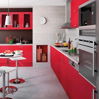 Cocinas Blancas Y Rojas | Renueva Tu Cocina Leroy Merlin