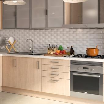Cocina de madera cocina de madera cocina madera haya - Cocinas madera clara ...