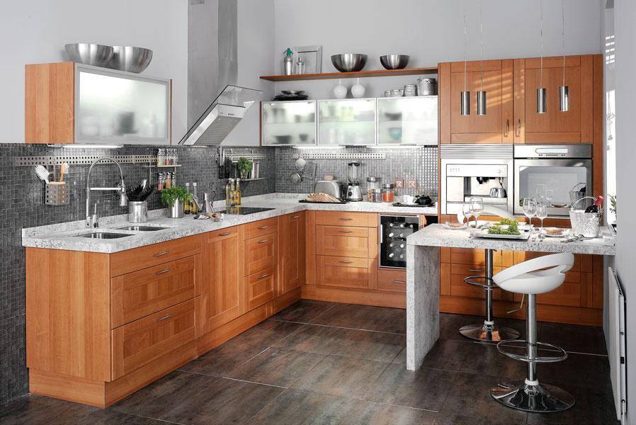 Sue a tu cocina con acabado madera leroy merlin for Cocinas leroy merlin fotos