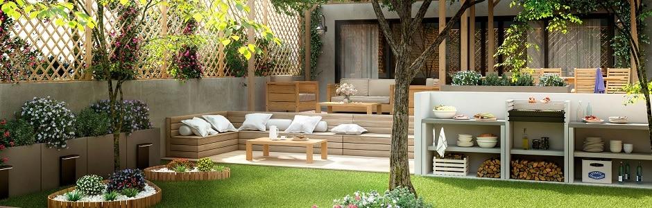 Especial jardines y terrazas leroy merlin for Jardines con encanto ideas