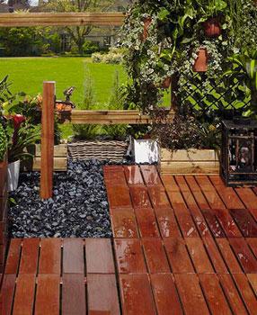 Suelos para jardin exterior baldosa de exterior para - Suelo madera jardin ...