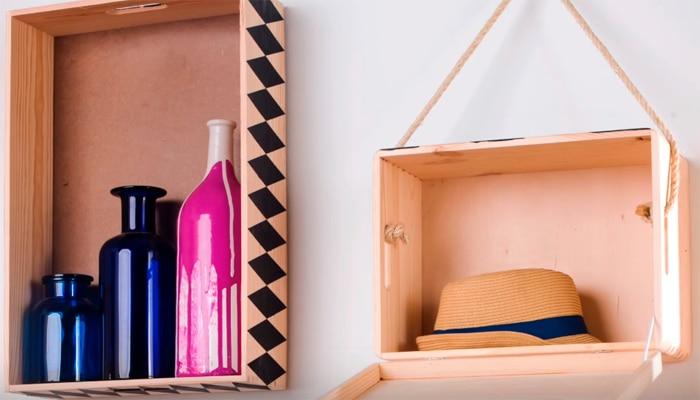 C mo decorar cajas de madera leroy merlin - Cajas de madera para decorar ...