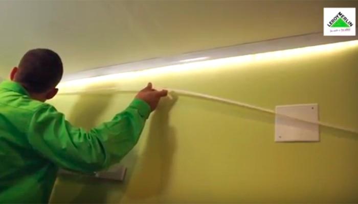 Como Colocar Un Rodapie Luminoso Con Tiras De Led Leroy Merlin - Decoracion-led