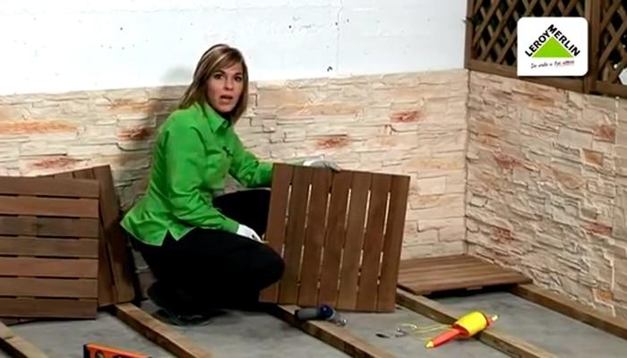 C mo instalar un suelo de exterior leroy merlin for Suelos para jardin exterior