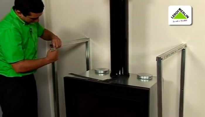 Calefacci n y agua caliente sanitaria leroy merlin - Como colocar una chimenea de lena ...