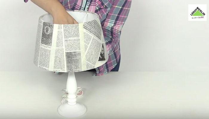 Decora una lámpara   leroy merlin