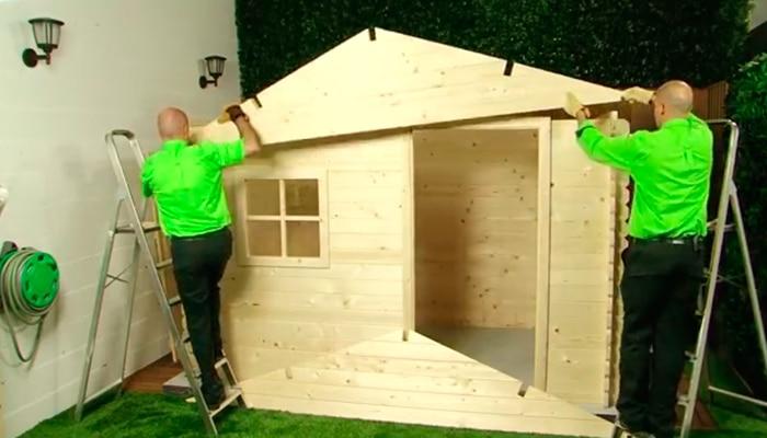 Monta tu caseta de jard n leroy merlin - Como hacer una caseta de jardin ...