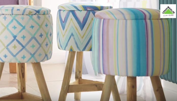 Tapizar un taburete leroy merlin - Telas de terciopelo para tapizar ...