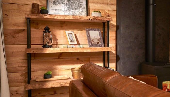 Crea tu propia estanter a r stica leroy merlin for Decoraciones rusticas para el hogar