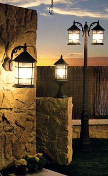 Qu zona quieres iluminar leroy merlin for Lamparas de exterior para terrazas