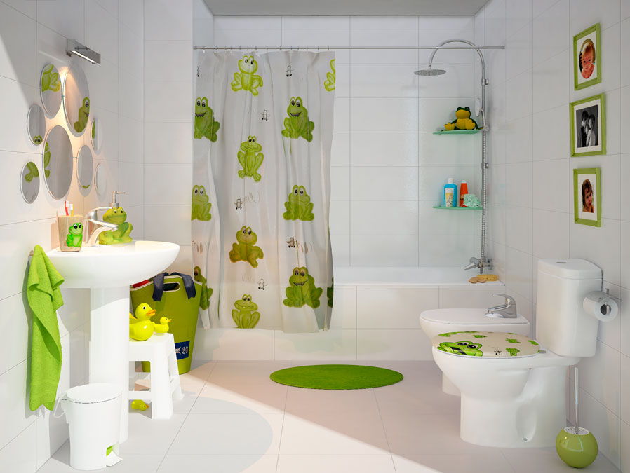 Ba o infantil un nuevo aire para tu ba o leroy merlin for Espejos de decoracion modernos