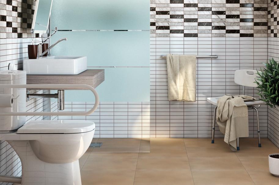 Medidas Baño Adaptado:Estos son los productos de este baño: