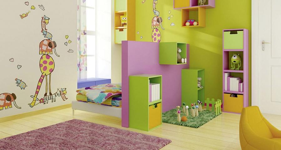Alegra la habitaci n de los ni os pinta en dos colores for Adhesivos para habitaciones infantiles