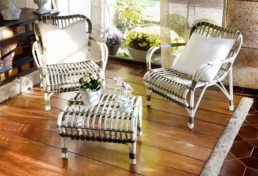 Set de rattan sintetico panama ref 16564716 leroy merlin for Set muebles jardin baratos