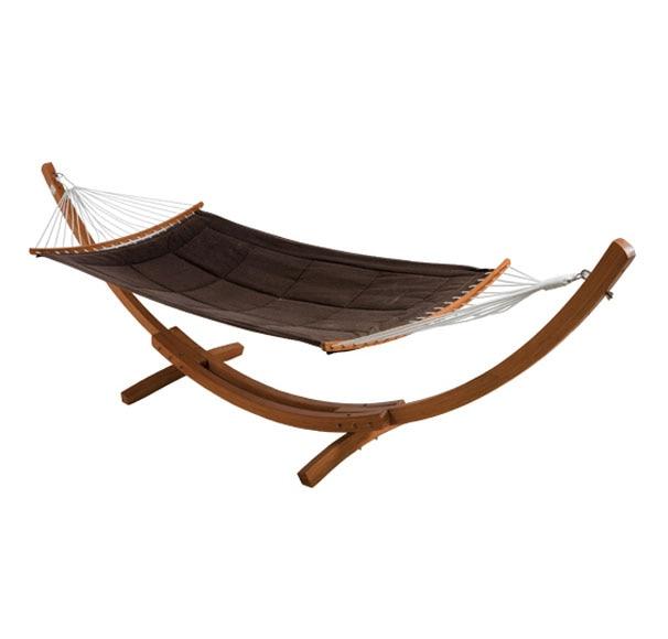 Hamaca de madera de eucalipto bali ref 14561771 leroy for Balancines para jardin leroy merlin
