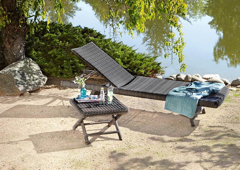 Tumbona aluminio y rat n sint tico iker ref 16566844 - Muebles de terraza en leroy merlin ...
