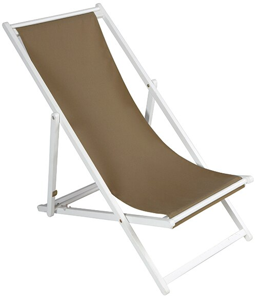 Hamaca de madera acacia regidor lacada blanca ref for Hamaca plegable playa