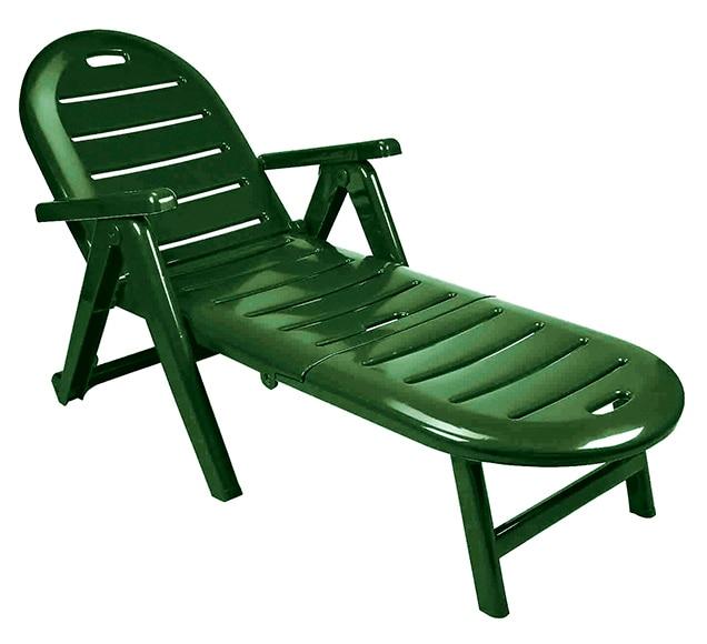 Tumbona de resina caiman verde ref 16839473 leroy merlin for Tumbonas de jardin