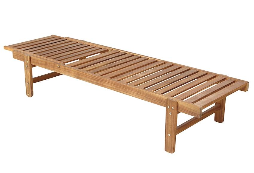 Tumbona de madera de acacia acacia basic ref 17237801 - Tumbonas de madera ...