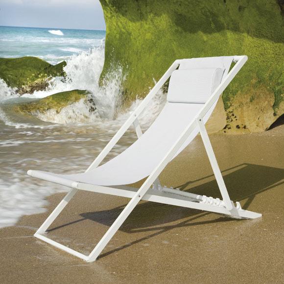 Hamaca de playa azores blanco ref 17783115 leroy merlin for Hamaca plegable playa