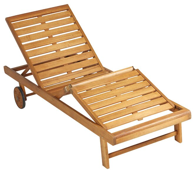 Tumbona de madera viena ref 17856524 leroy merlin for Vallado de madera jardin leroy merlin