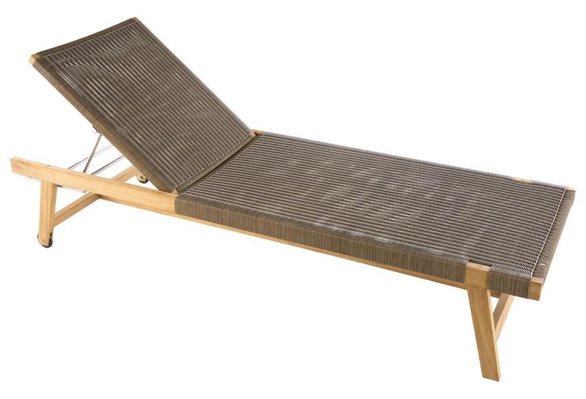 tumbona de madera lorrie marron - Tumbonas Madera