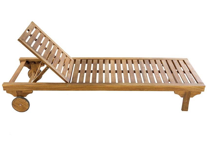 tumbona madera de acacia porto ampliar imagen - Tumbonas Madera