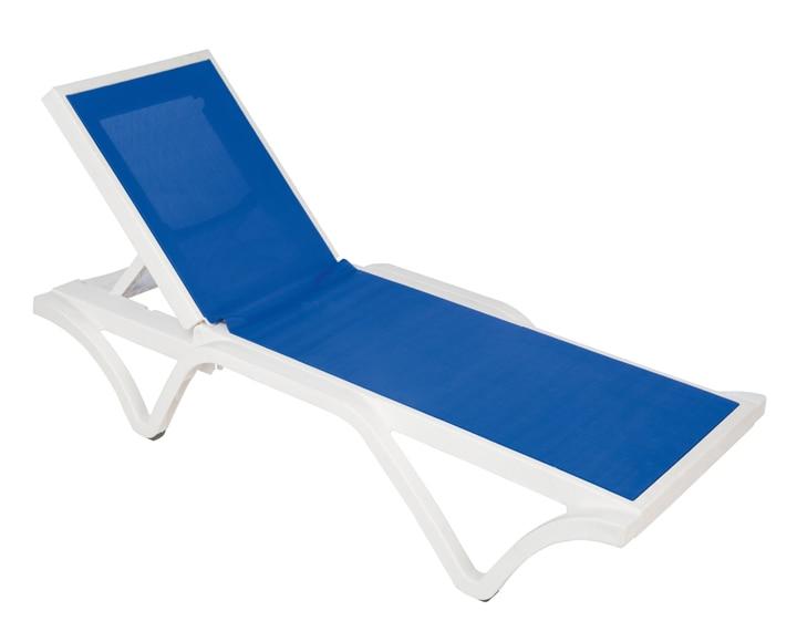 Tumbona de resina estoril blanca azul ref 19393955 for Resina epoxi leroy merlin