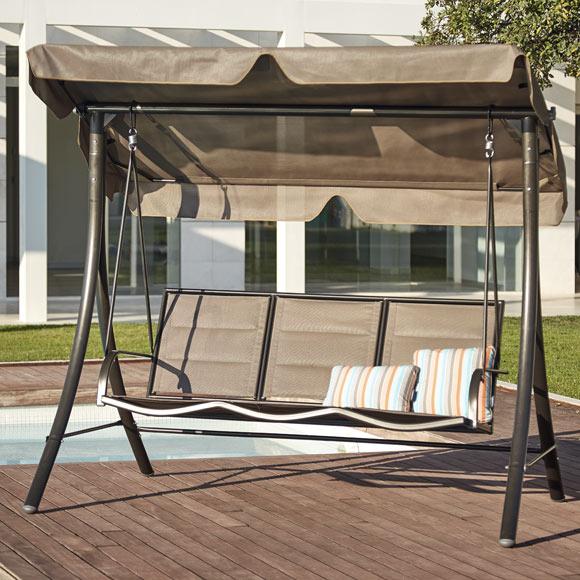 Balanc n de acero y textileno lisboa choco ref 81867422 - Balancin jardin leroy merlin ...