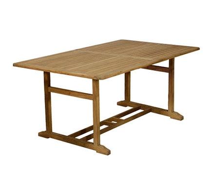 Mesa extensible de madera de teca noelia ref 14056854 for Mesa extensible de madera