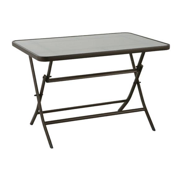 Mesa de aluminio algarve ref 14561813 leroy merlin for Mesa jardin aluminio