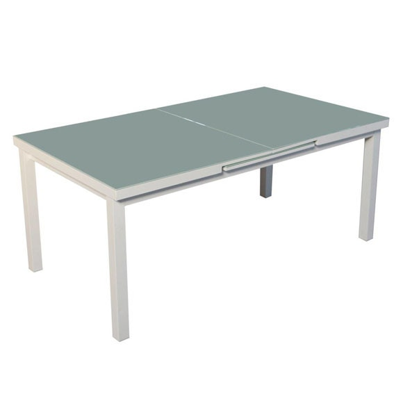Mesa extensible de aluminio naterial ibiza blanco ref for Table extensible leroy merlin
