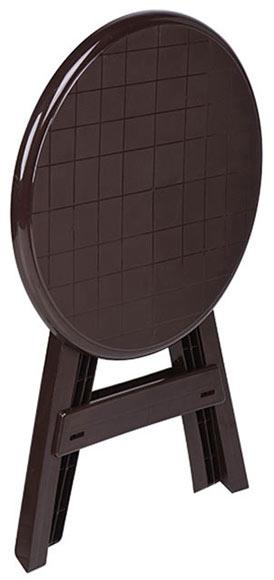 Mesa plegable de resina conil wengu ref 15714713 leroy - Mesa plegable maleta leroy merlin ...