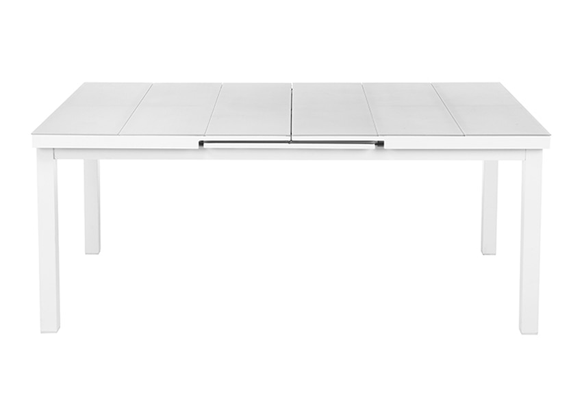 Mesa extensible de aluminio lamas gris ref 15959951 for Table extensible leroy merlin