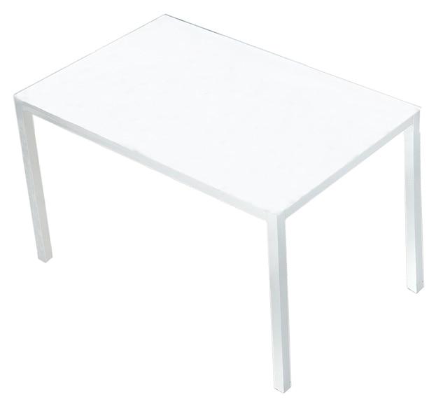 Mesa de acero y vidrio zahara blanco ref 16563813 leroy for Leroy merlin cristal mesa