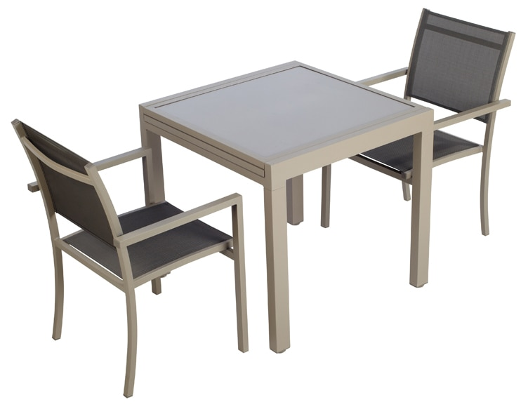 mesa extensible de aluminio olivia topo ref 16564100