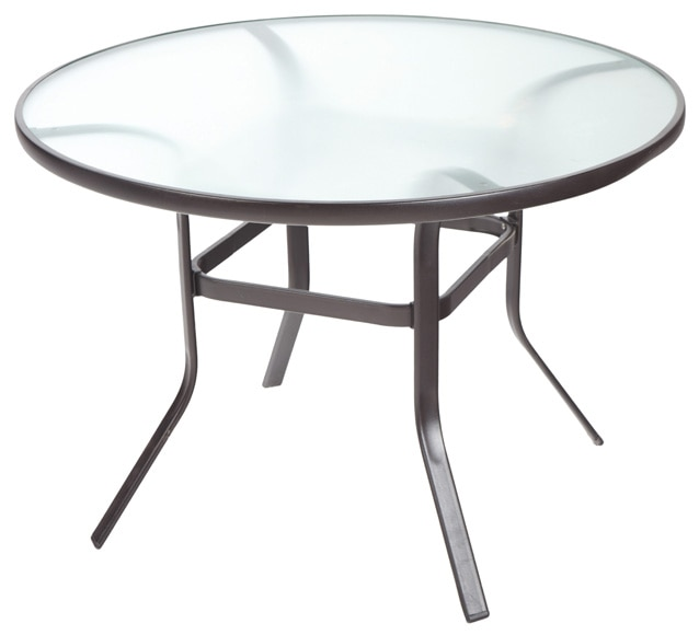 Mesa de acero y vidrio palermo ref 16564331 leroy merlin for Mesa cristal acero