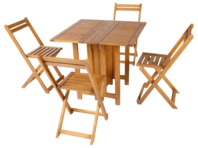 Mesa de madera de acacia soria ref 16564730 leroy merlin for Mesa plegable leroy merlin