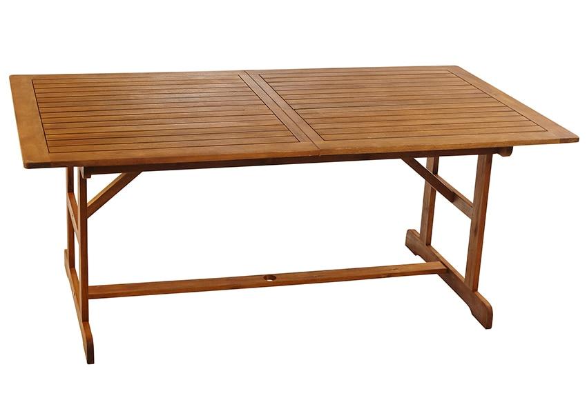 Mesa extensible de madera de acacia acacia ref 16568650 - Tendedero extensible leroy merlin ...