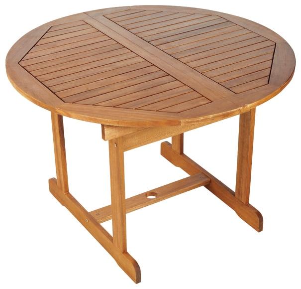 Mesa extensible de madera de acacia acacia ref 16568671 leroy merlin - Mesa acacia extensible ...