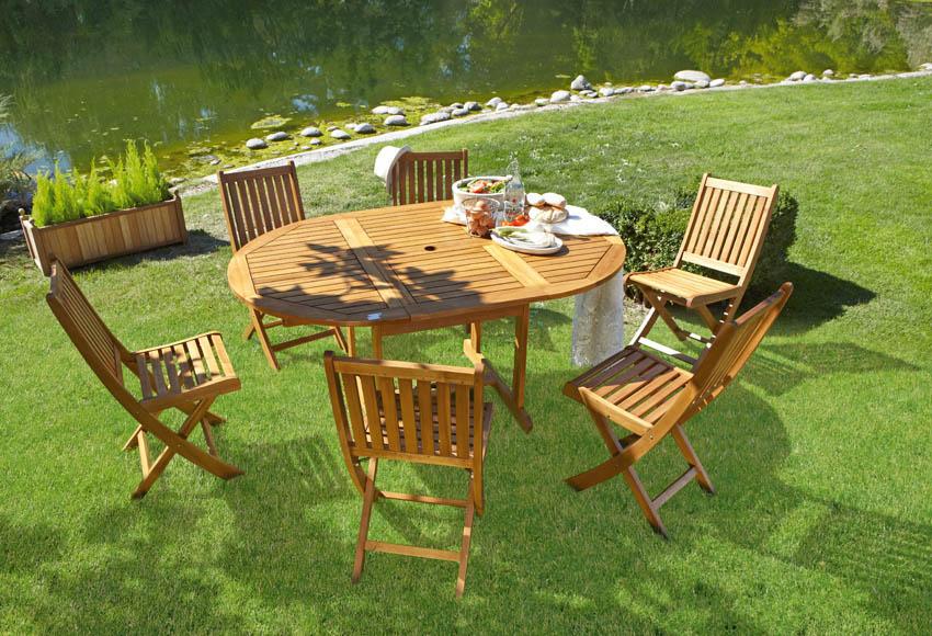 Mesa extensible de madera de acacia acacia ref 16568671 - Mesa acacia extensible ...
