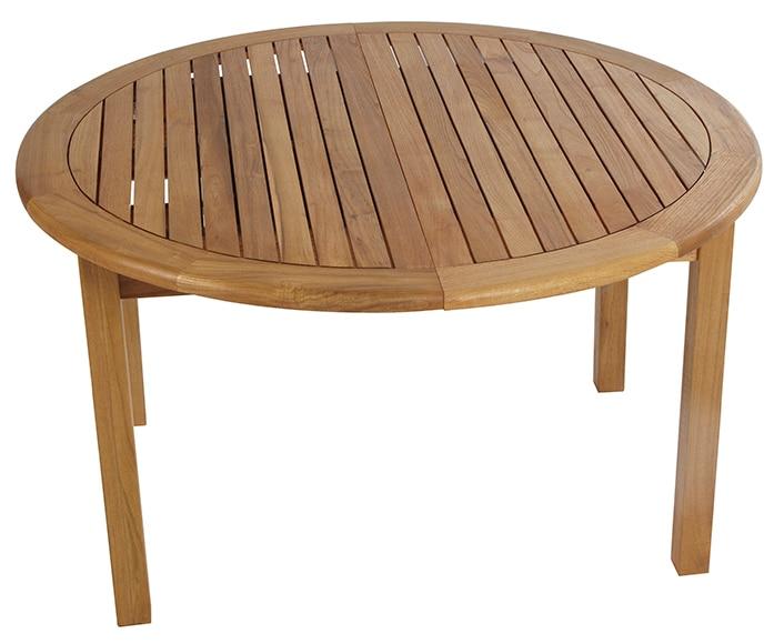 Mesa extensible de madera de robinia robinia redonda ref for Mesa madera extensible