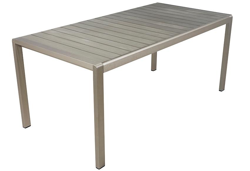 Mesa de aluminio y resina albany ref 17235316 leroy merlin - Mesa resina infantil ...
