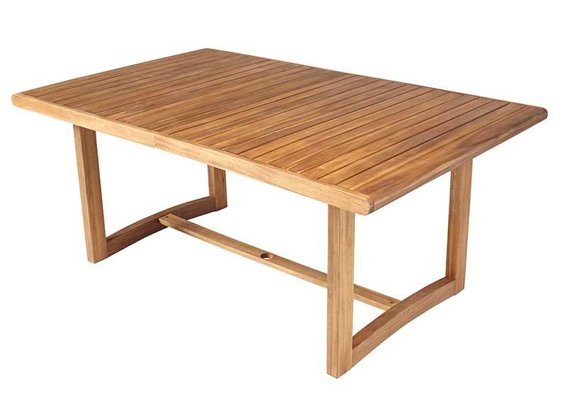 Mesa extensible de madera de acacia viena ref 17236583 - Mesa acacia extensible ...