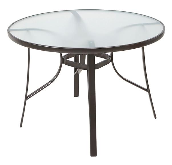 mesa de acero y vidrio vesubio ref 17323950 leroy merlin