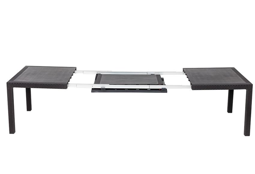 Mesa extensible de aluminio y resina symphony ref for Mesas de jardin de resina