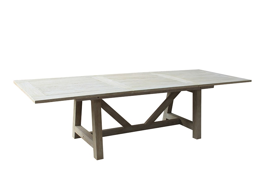 Mesa extensible de madera de teca quebec ref 17390842 leroy merlin - Tendedero extensible leroy merlin ...