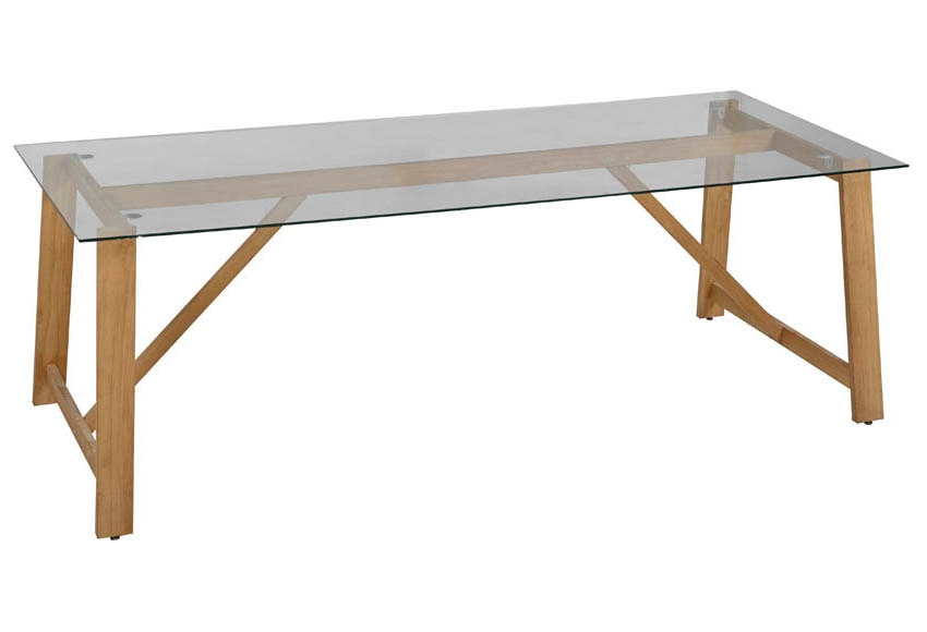 Mesa de madera chamonix ref 17785166 leroy merlin for Mesa picnic madera leroy merlin